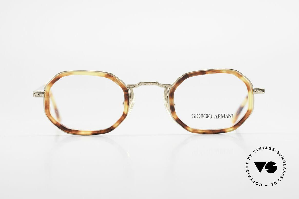 Giorgio Armani 143 Octagonal Vintage Eyeglasses, rare vintage eyeglasses by famous Giorgio Armani, Made for Men and Women