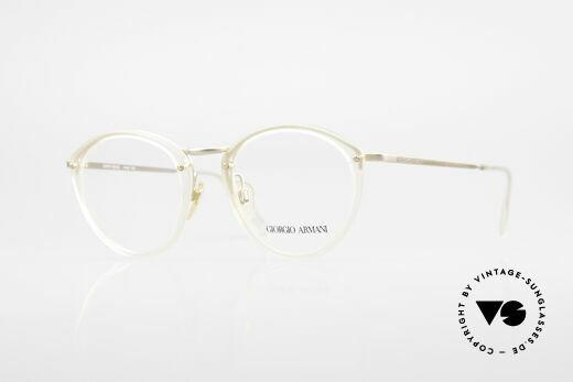 Giorgio Armani 354 80s Designer Glasses Vintage Details