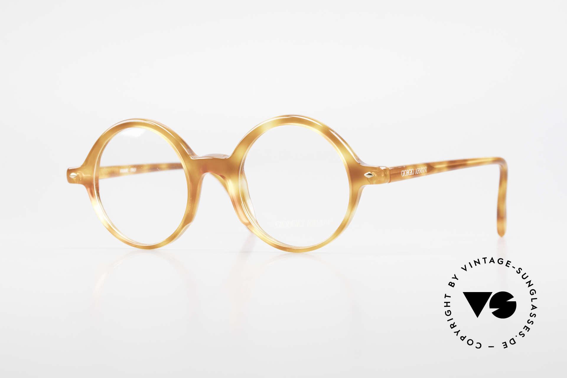 Giorgio Armani 319 Old 1980's Eyeglasses Round, timeless vintage Giorgio Armani designer eyeglasses, Made for Men and Women