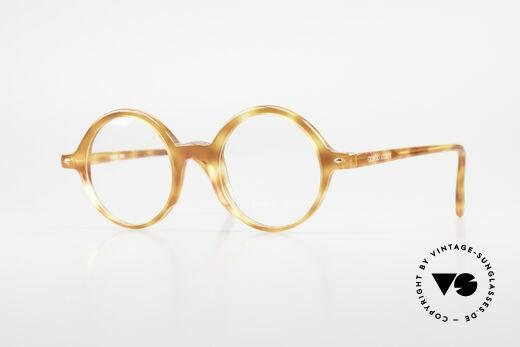 Giorgio Armani 319 Old 1980's Eyeglasses Round Details
