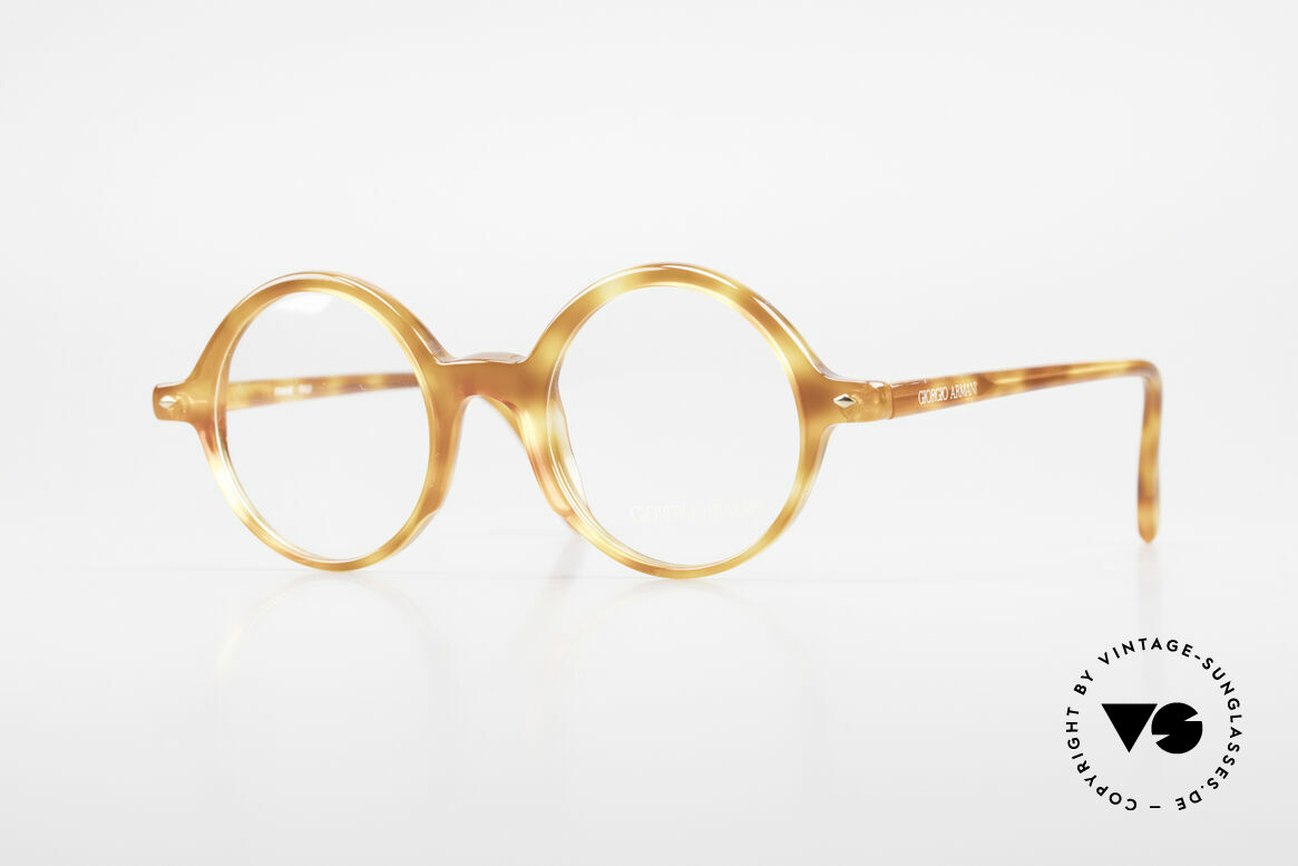 Giorgio Armani 319 Old 1980's Eyeglasses Round, timeless vintage Giorgio Armani designer eyeglasses, Made for Men and Women