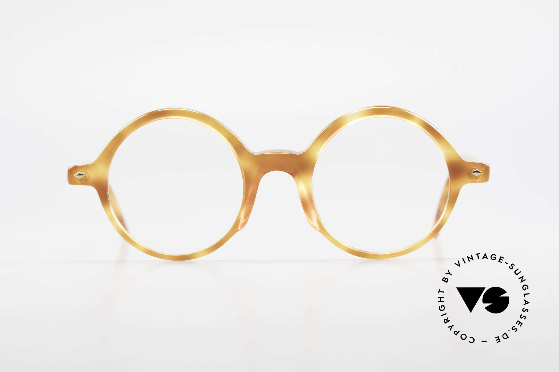 Giorgio Armani 319 Old 1980's Eyeglasses Round, round frame design with interesting 'tortoise' pattern, Made for Men and Women