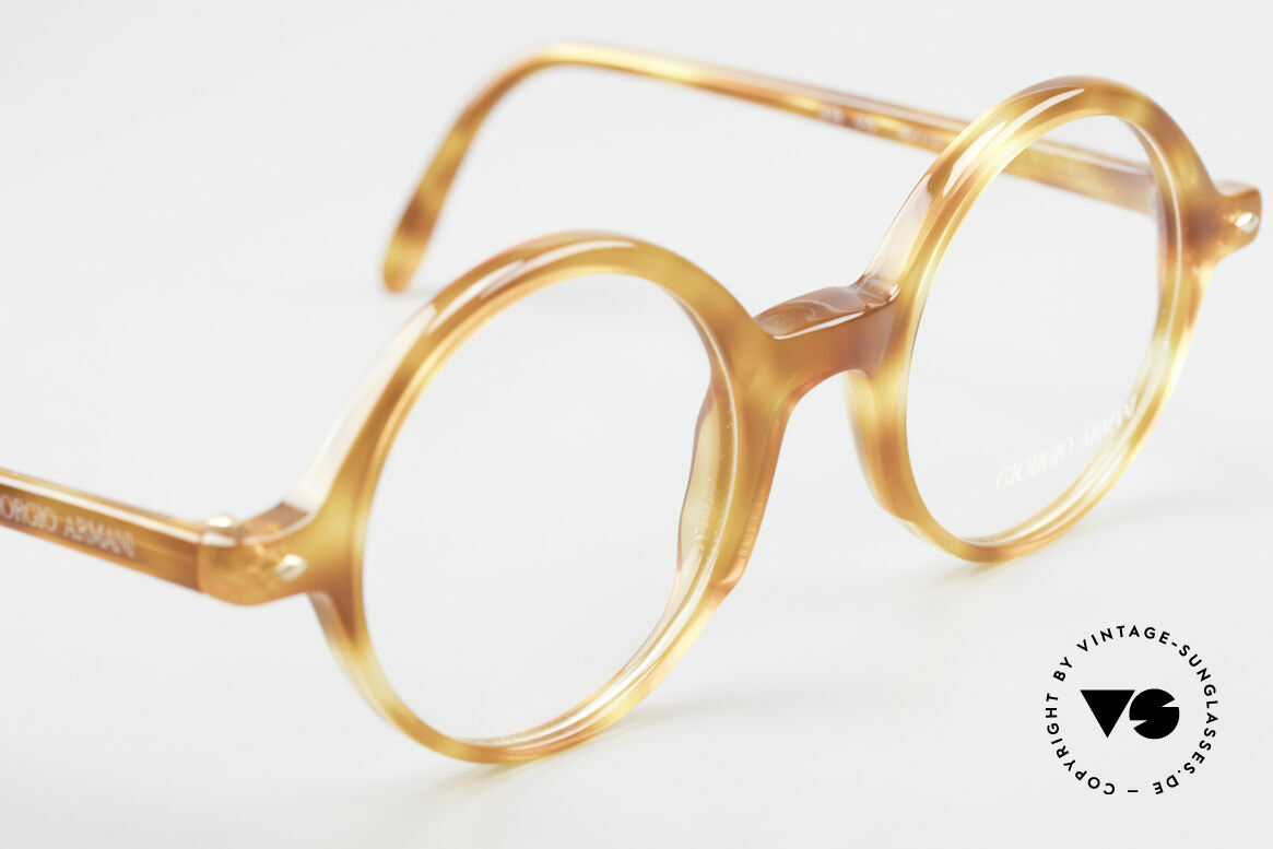 Giorgio Armani 319 Old 1980's Eyeglasses Round, NO retro eyewear, but a unique 30 years old ORIGINAL, Made for Men and Women