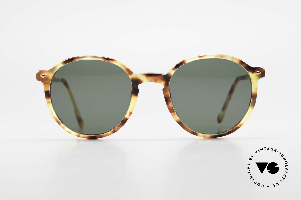 """Giorgio Armani 325 Old Panto 90's Sunglasses, panto frame design with interesting """"amber"""" pattern, Made for Men and Women"""