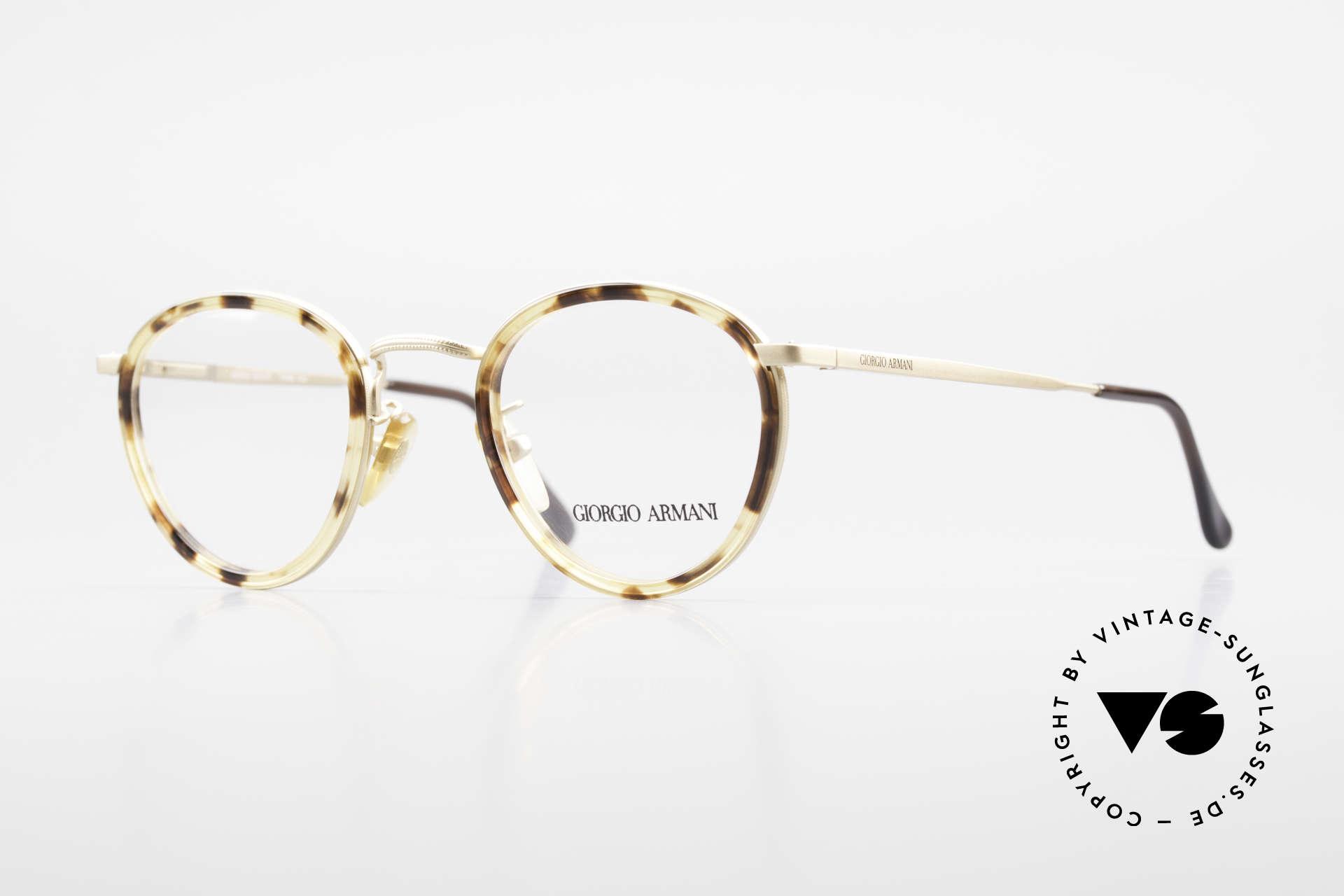 Giorgio Armani 159 Panto Glasses Windsor Rings, timeless vintage Giorgio Armani designer eyeglasses, Made for Men
