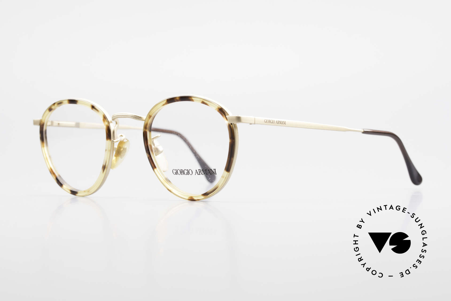Giorgio Armani 159 Panto Glasses Windsor Rings, refined with windsor rings and flexible spring hinges, Made for Men