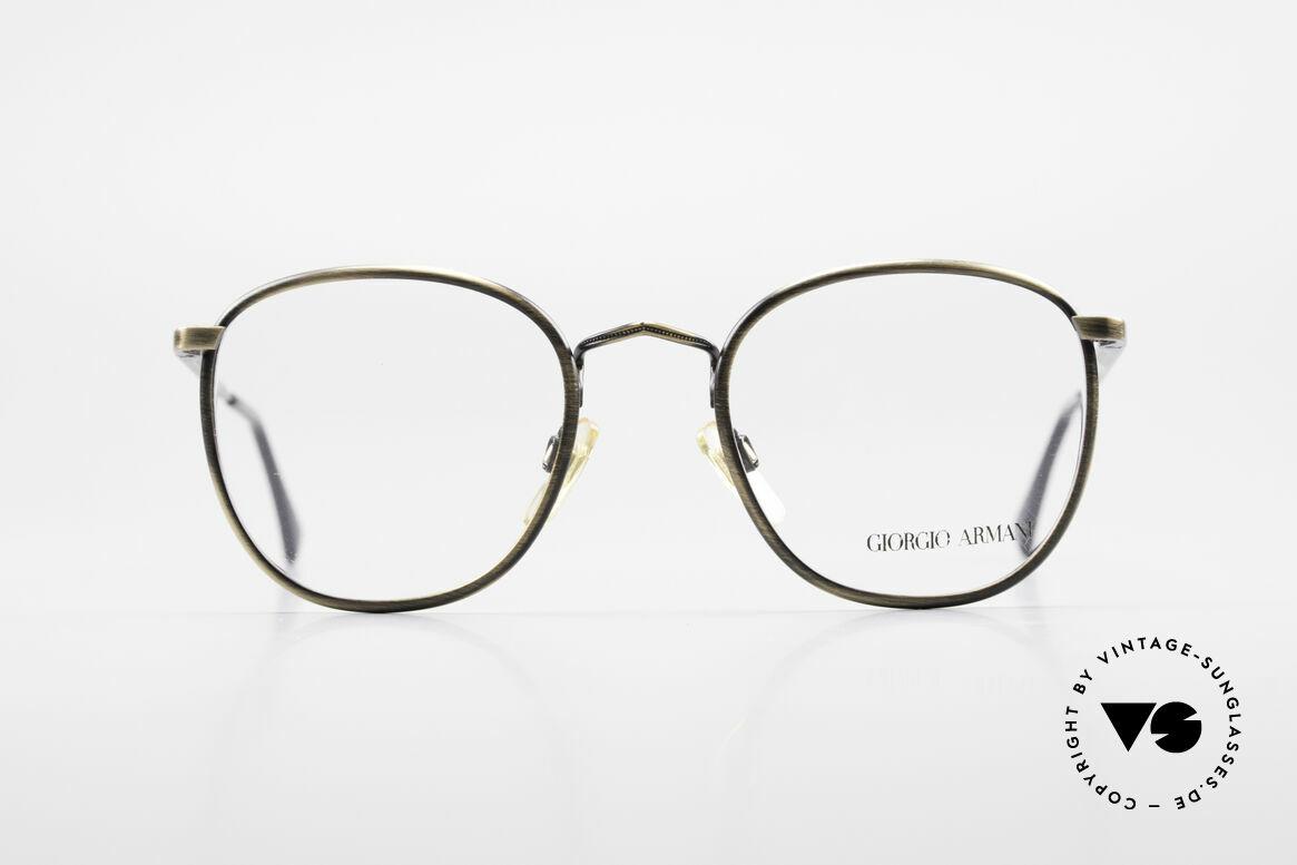 Giorgio Armani 150 Classic Men's Eyeglasses 80's, classic men's frame ('PANTO'-design) & spring hinges, Made for Men