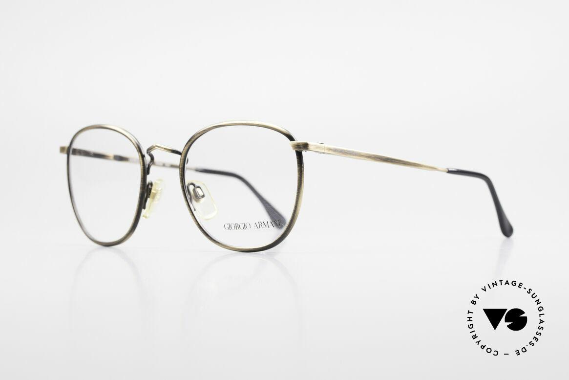 "Giorgio Armani 150 Classic Men's Eyeglasses 80's, brilliant frame finish in a kind of ""antique gold""/brass, Made for Men"