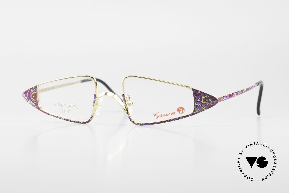 Casanova FC15 24kt Gold Plated Reading Specs, glamorous Casanova eyeglass-frame from around 1985, Made for Women