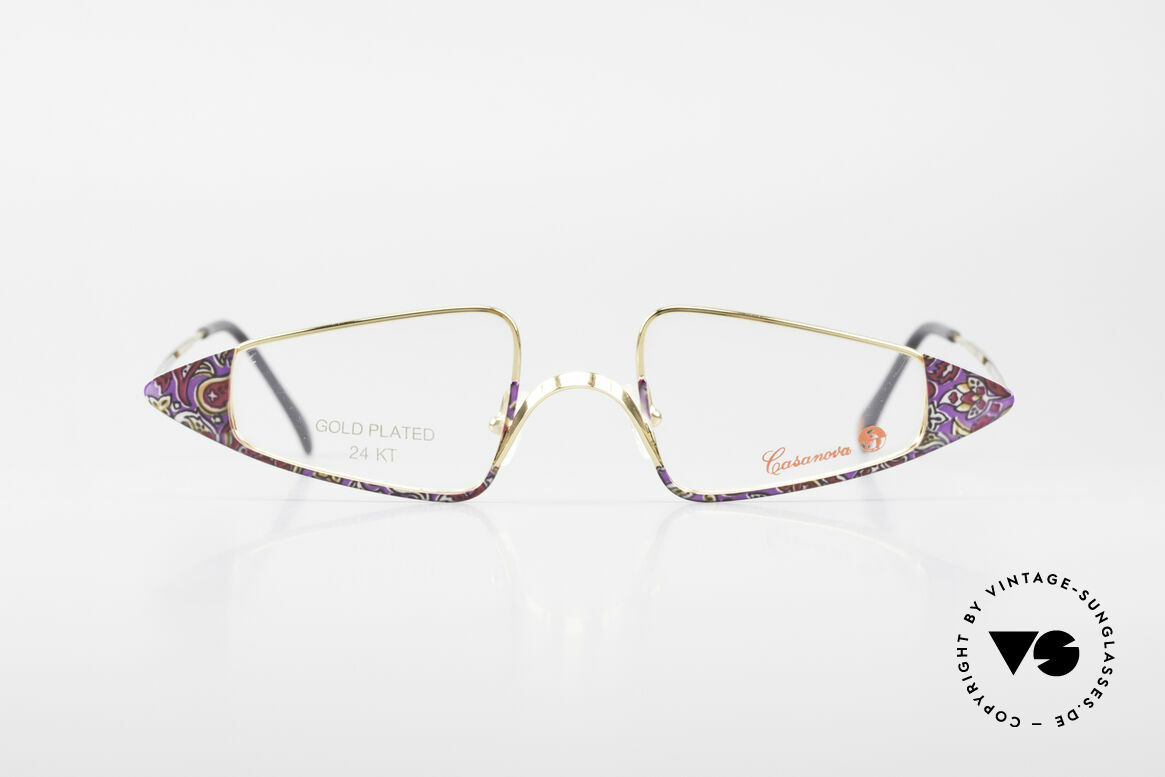 Casanova FC15 24kt Gold Plated Reading Specs, distinctive Venetian design in style of the 18th century, Made for Women