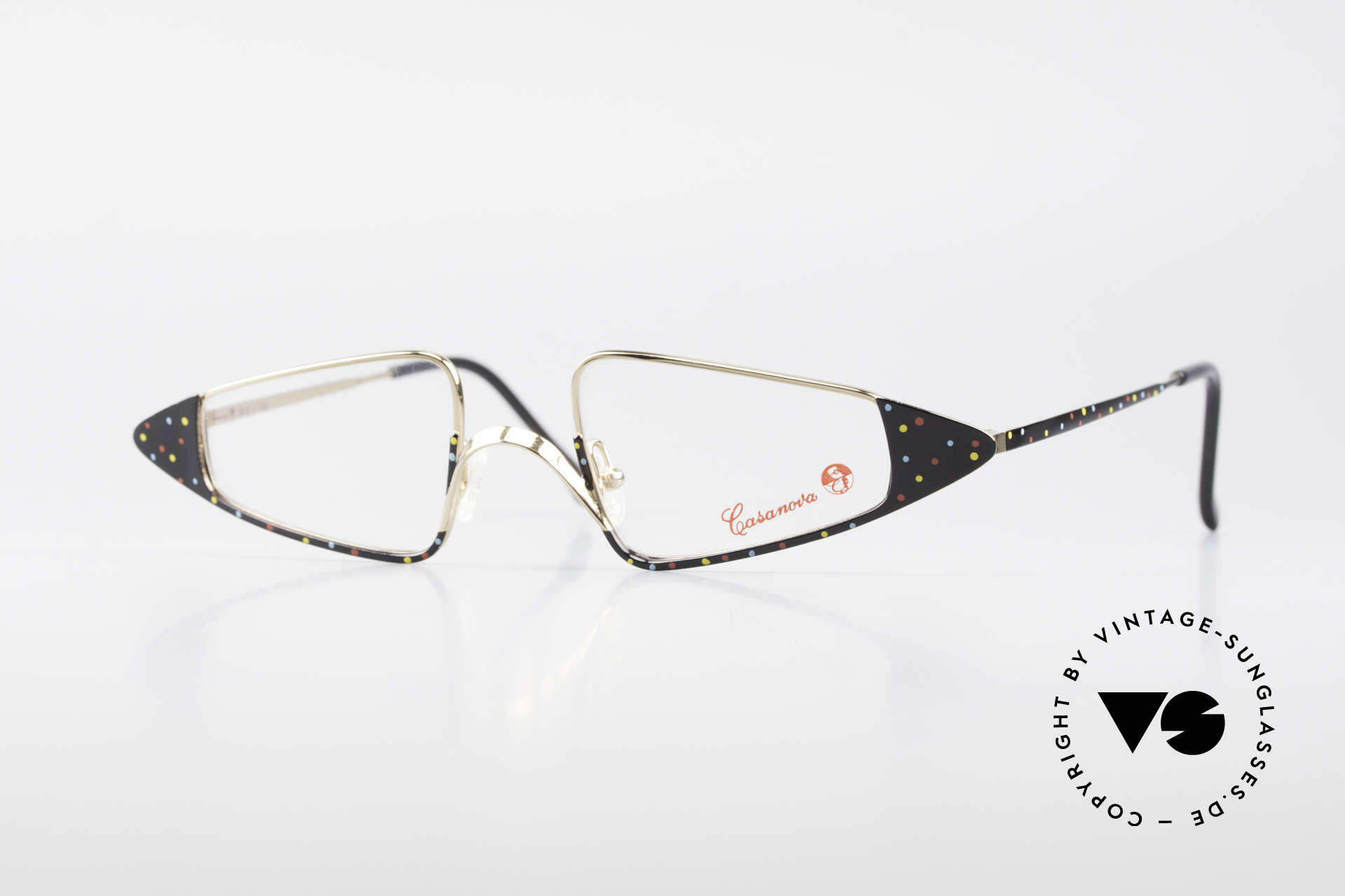 Casanova FC15 Fancy Vintage Reading Frame, glamorous Casanova eyeglass-frame from around 1985, Made for Women