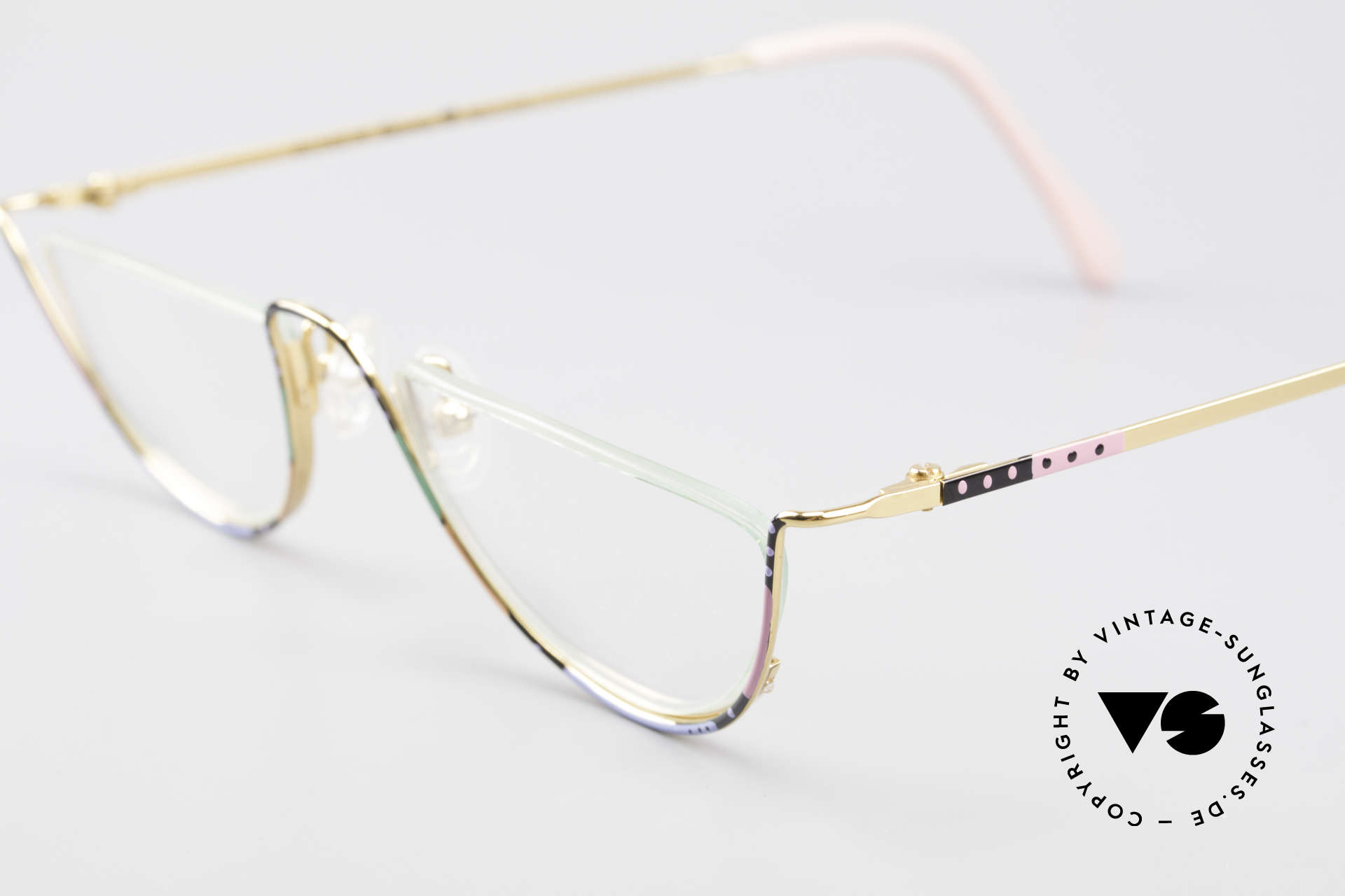 Casanova FC11 Colorful Reading Eyeglasses, 24kt gold-plated frame & charming patterned / colored, Made for Women
