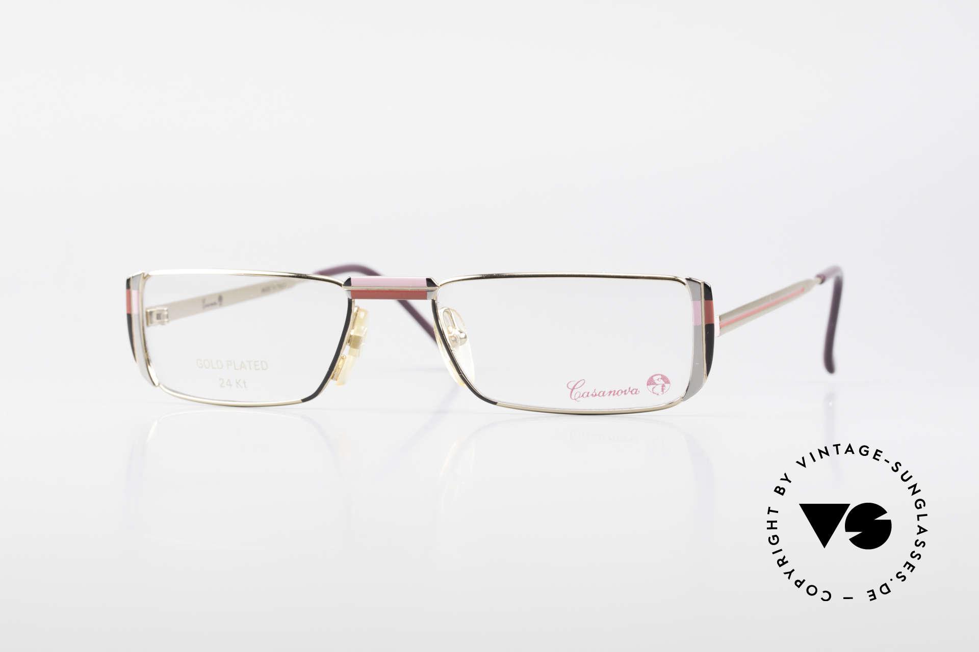 Casanova NM3 Gold Plated Reading Glasses, striking vintage 1980's Casanova reading eyeglasses, Made for Women