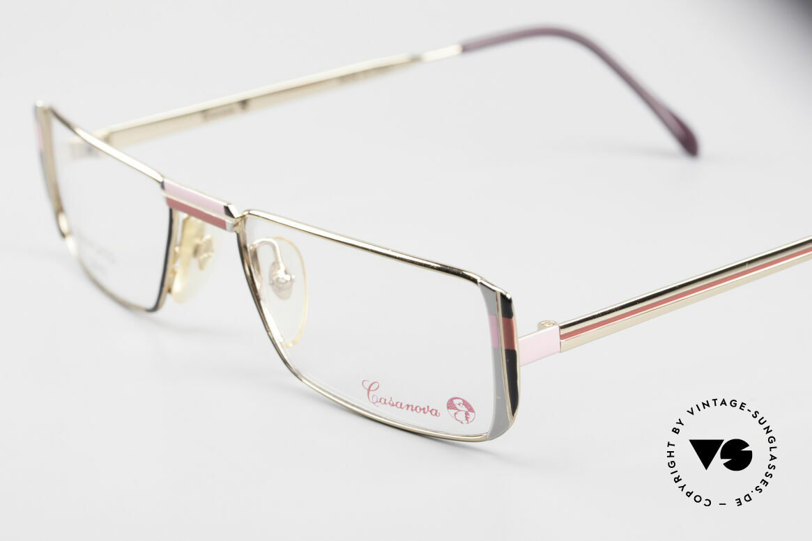 Casanova NM3 Gold Plated Reading Glasses, limited-lot 1980's production (rare, costly, precious), Made for Women