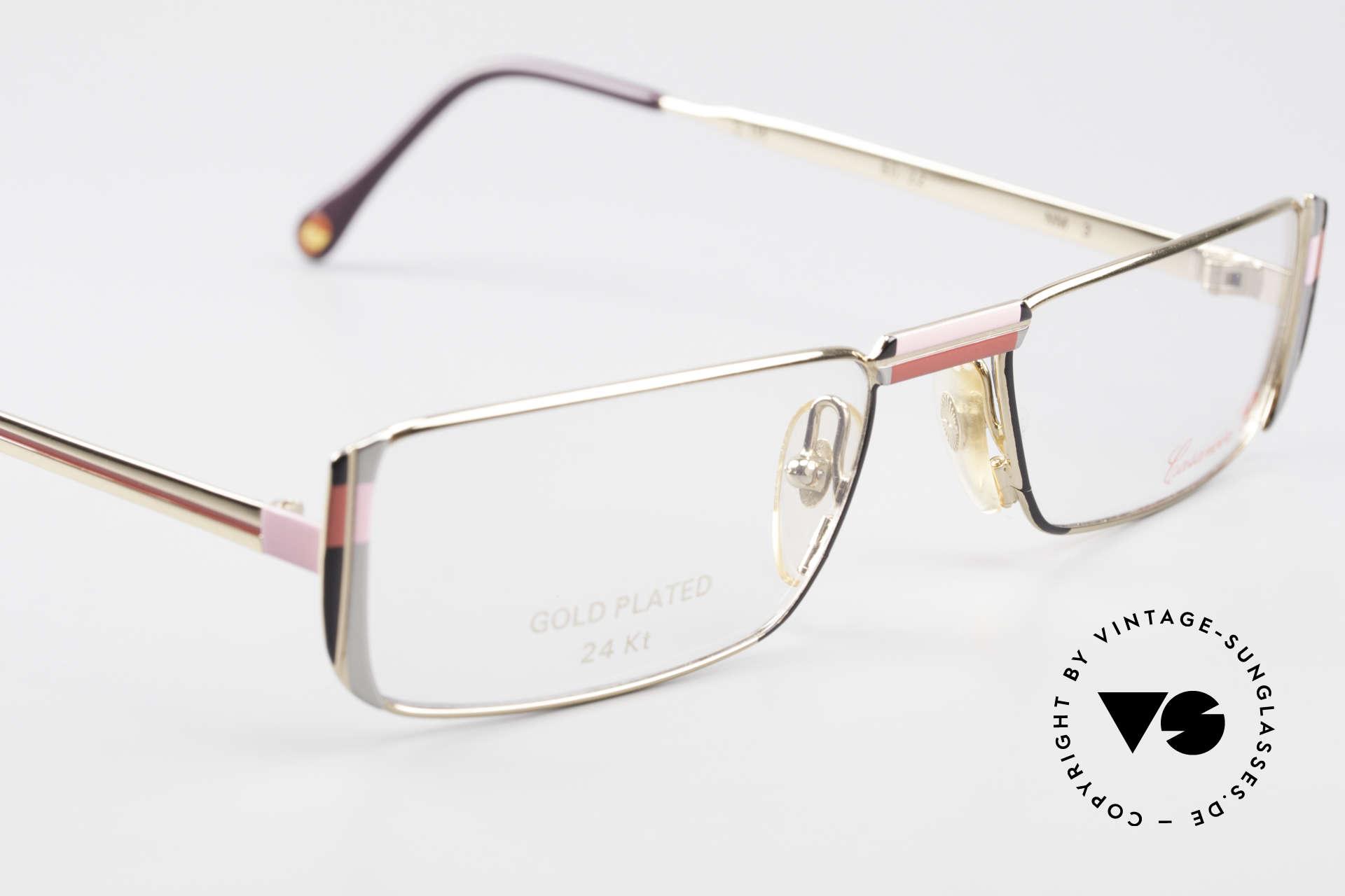 Casanova NM3 Gold Plated Reading Glasses, NOS - unworn (like all our vintage Casanova frames), Made for Women