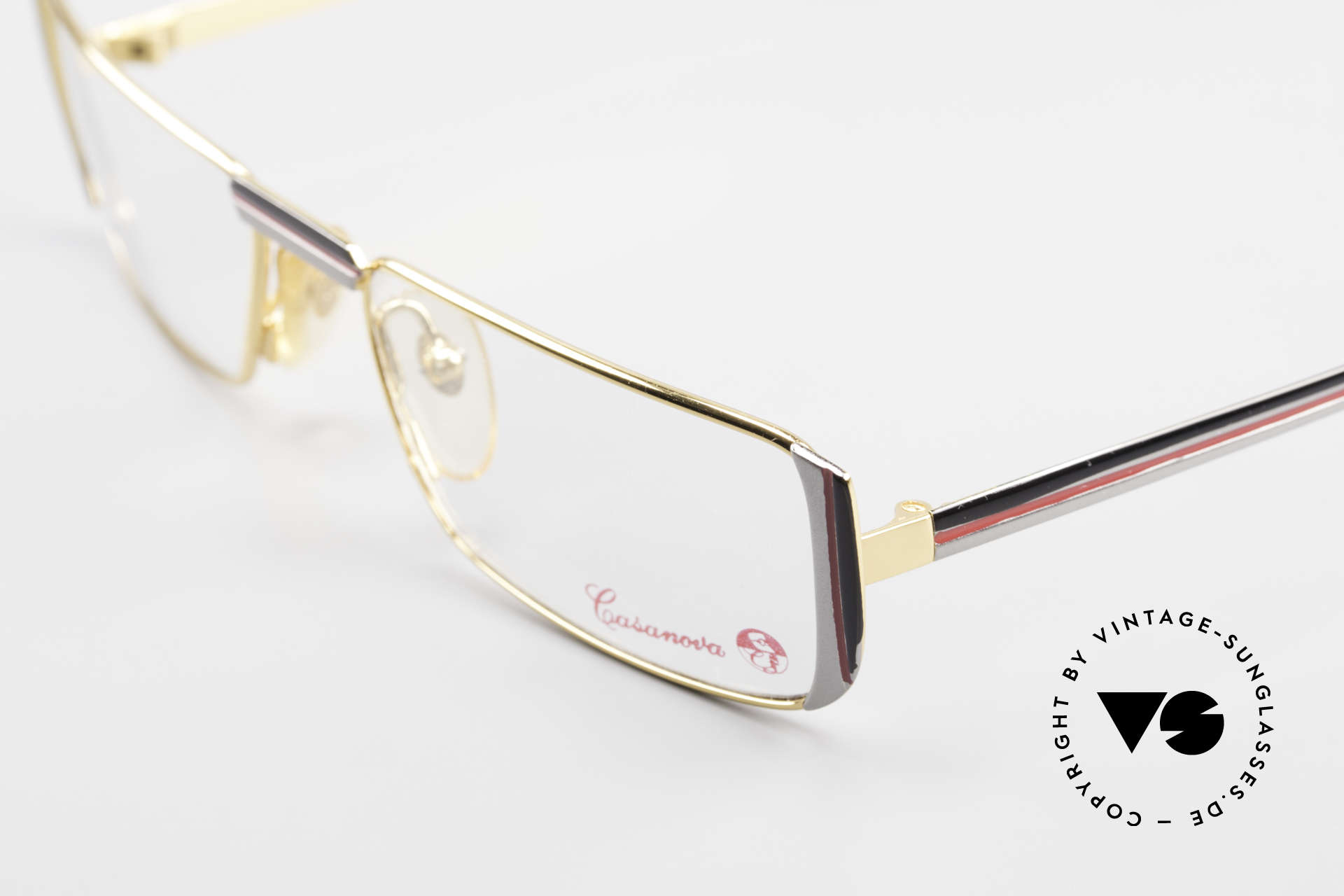 Casanova NM3 Square Reading Eyeglasses 80s, limited-lot 1980's production (rare, costly, precious), Made for Men and Women