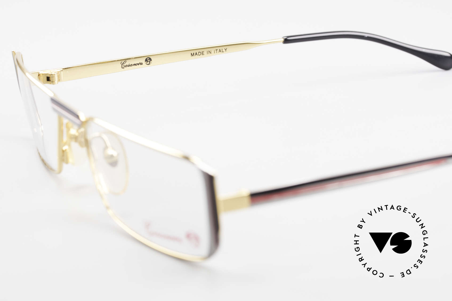 Casanova NM3 Square Reading Eyeglasses 80s, demo lenses can be replaced with optical (sun)lenses, Made for Men and Women