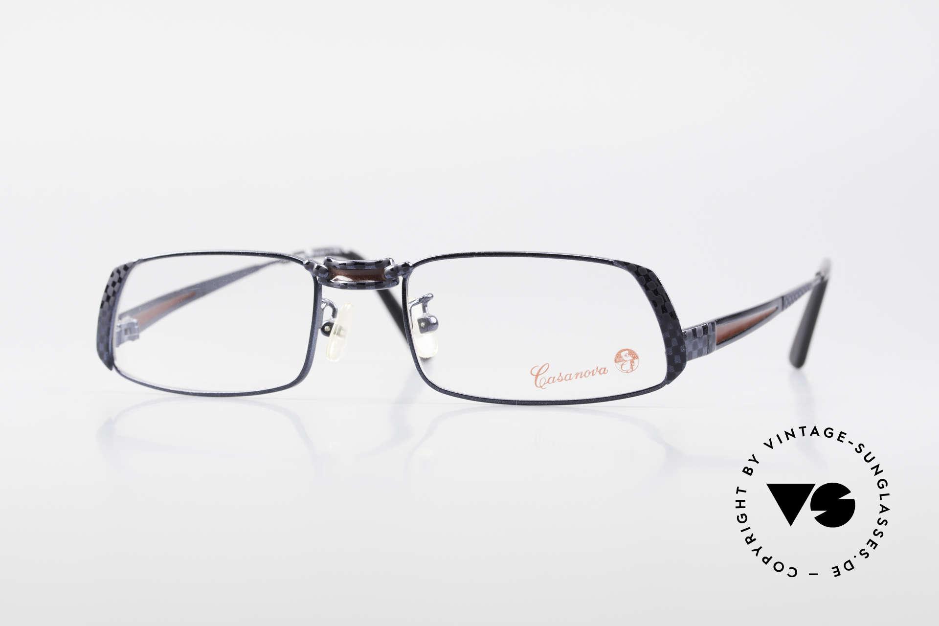 Casanova LC70 Old Vintage Designer Frame, eye-catching Casanova vintage glasses of the 1990's, Made for Men and Women