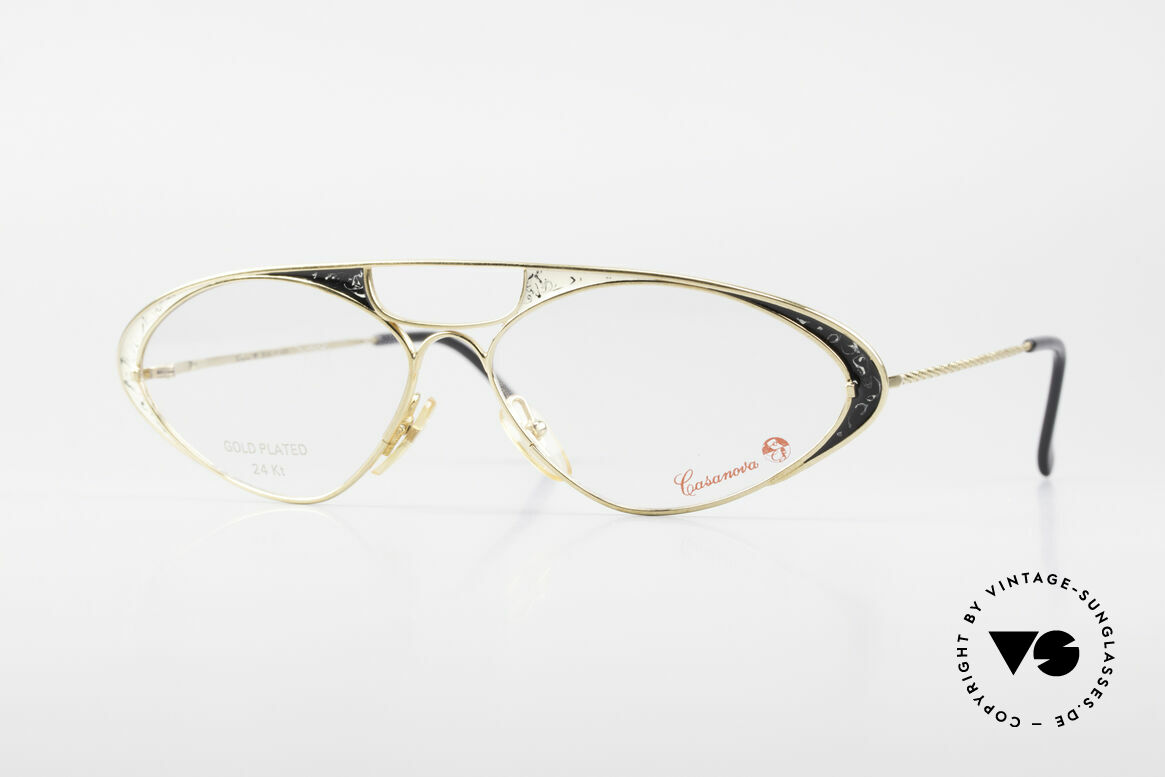 Casanova LC8 80's Vintage Ladies Eyeglasses, glamorous CASANOVA eyeglasses from around 1985, Made for Women