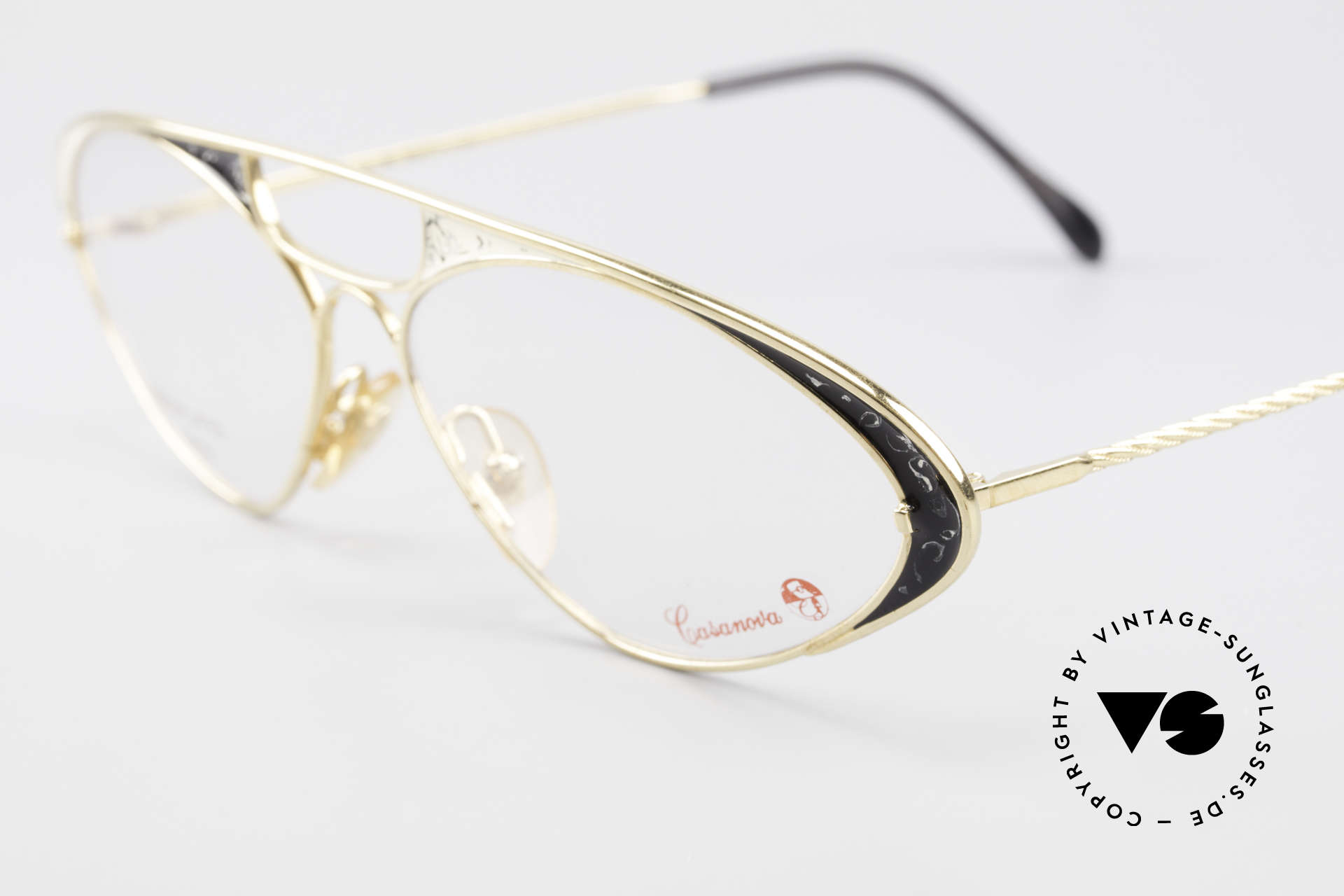 Casanova LC8 80's Vintage Ladies Eyeglasses, a true rarity and collector's item (pure Haute Couture), Made for Women