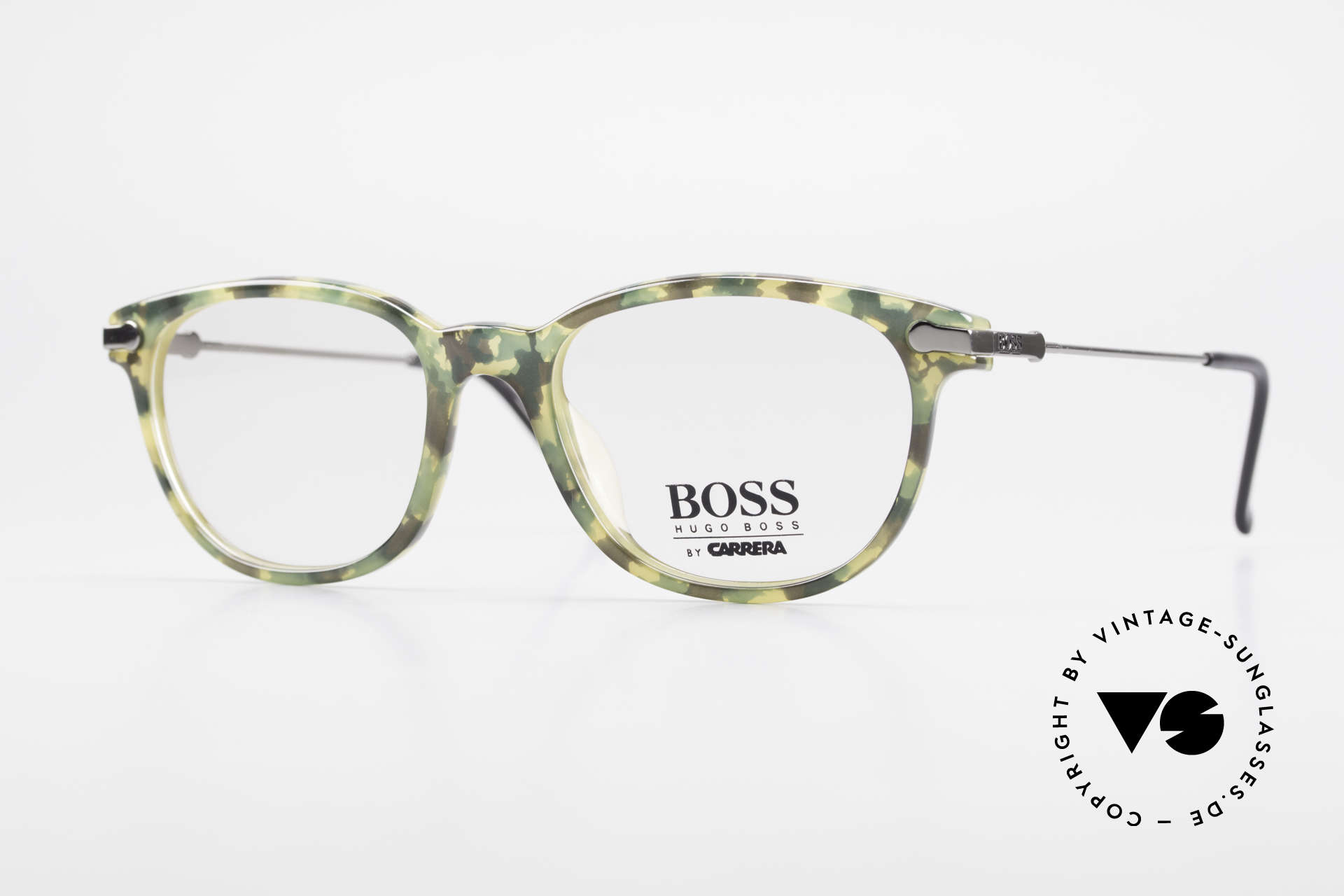 BOSS 5115 Camouflage Vintage Eyeglasses, striking BOSS vintage designer eyewear of the 90's, Made for Men