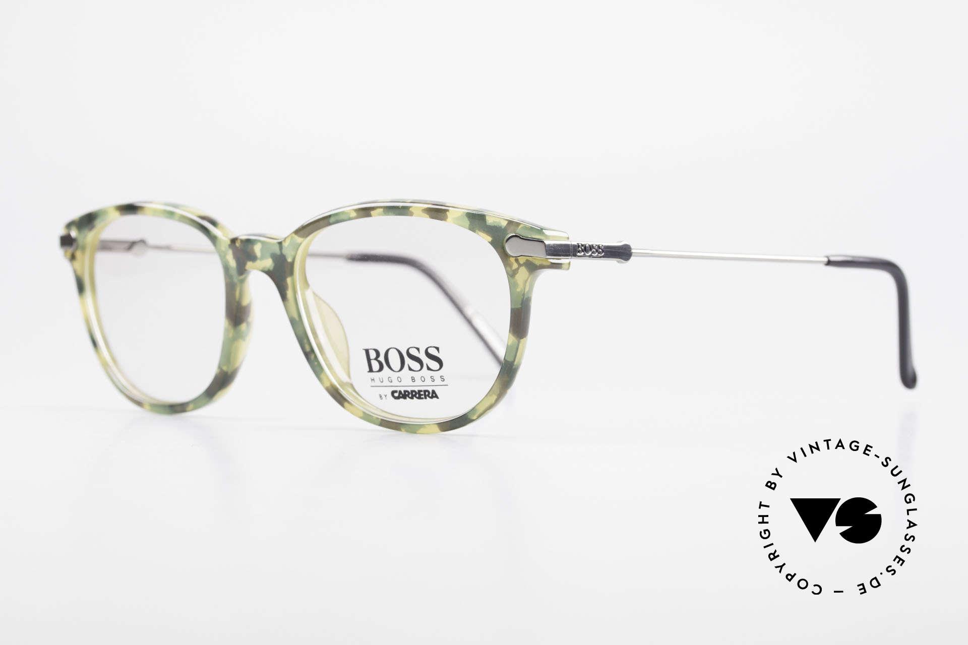 "BOSS 5115 Camouflage Vintage Eyeglasses, frame front looks like ""camouflage"" green patterned, Made for Men"