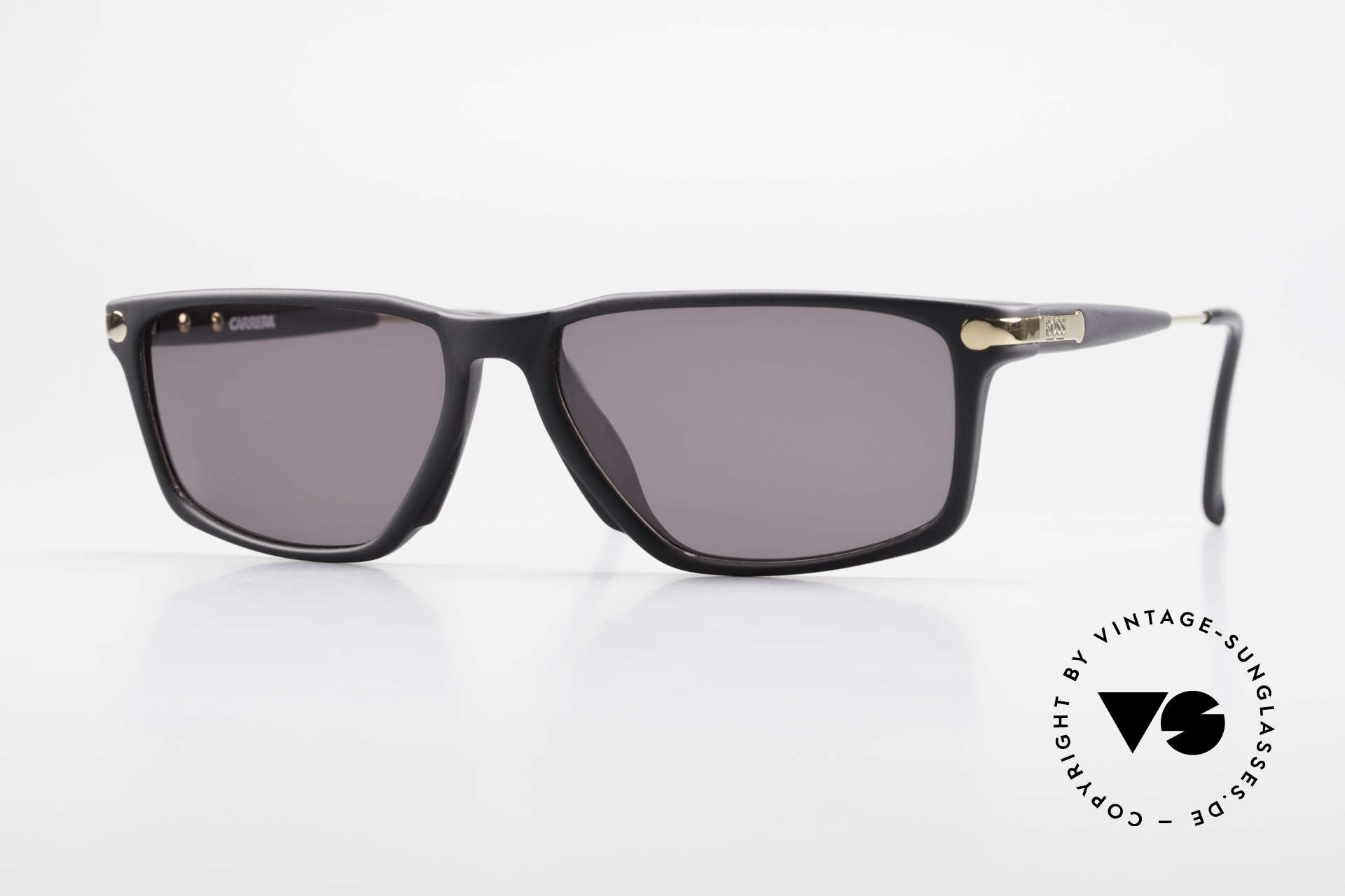 BOSS 5174 Square-Cut Vintage Sunglasses, striking BOSS vintage designer shades of the 90's, Made for Men