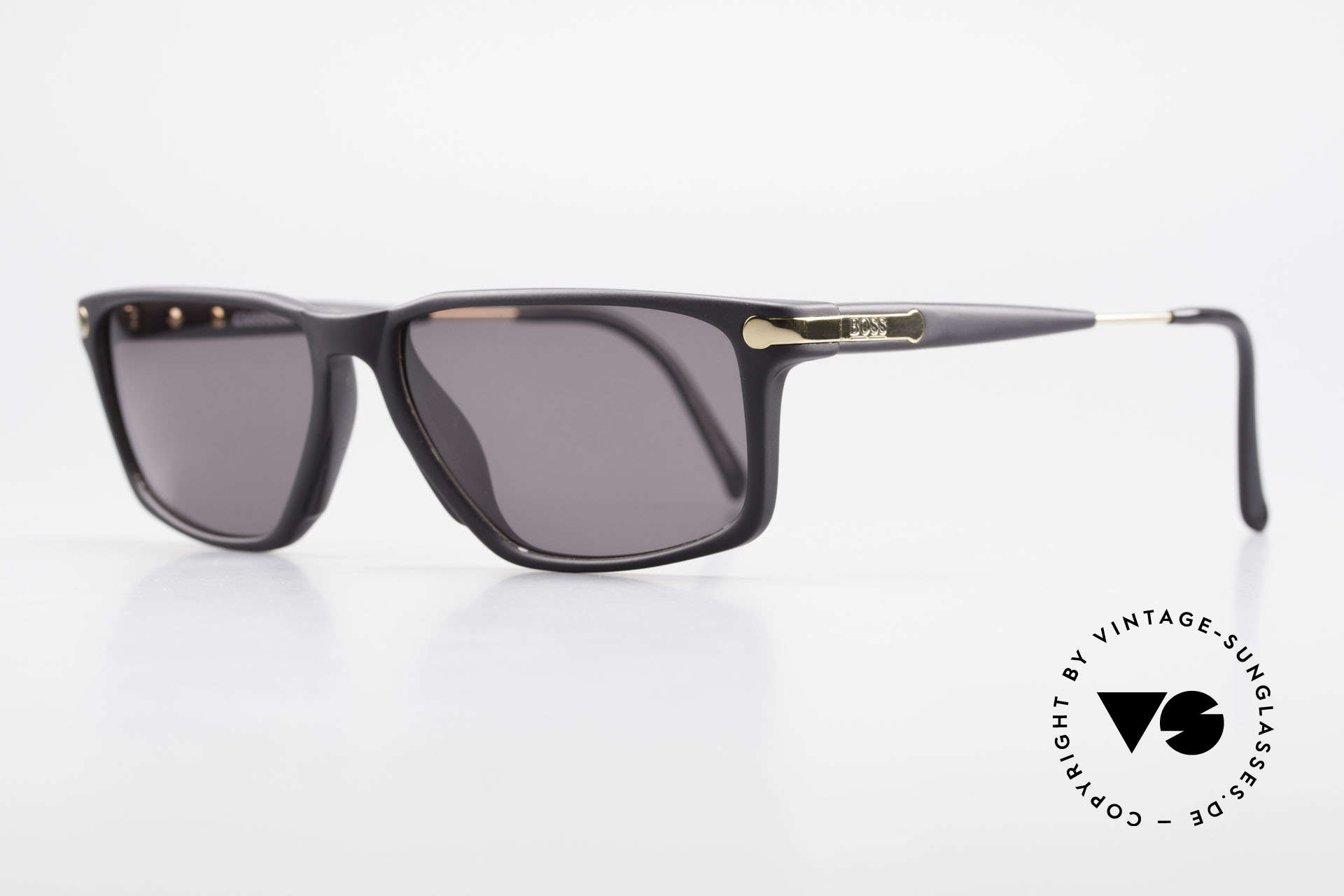 BOSS 5174 Square-Cut Vintage Sunglasses, high-end OPTYL material (lightweight & durable), Made for Men