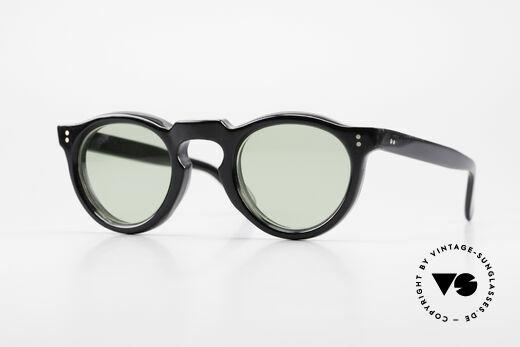 Lesca Panto 8mm 60's Panto Sunglasses France Details