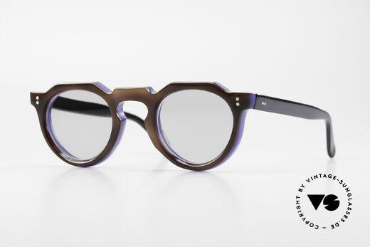 Lesca Panto 8mm 60's France Sunglasses Panto Details