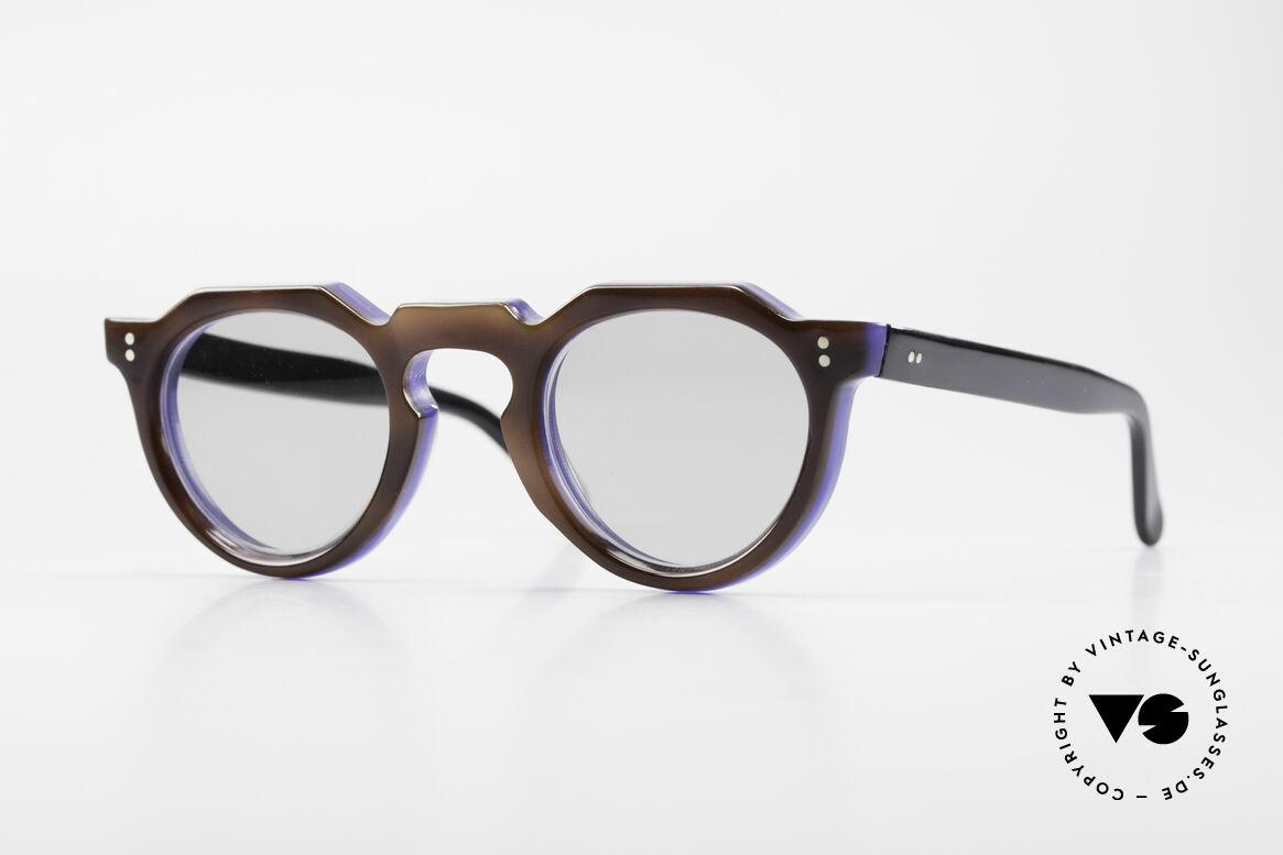 Lesca Panto 8mm 60's France Sunglasses Panto