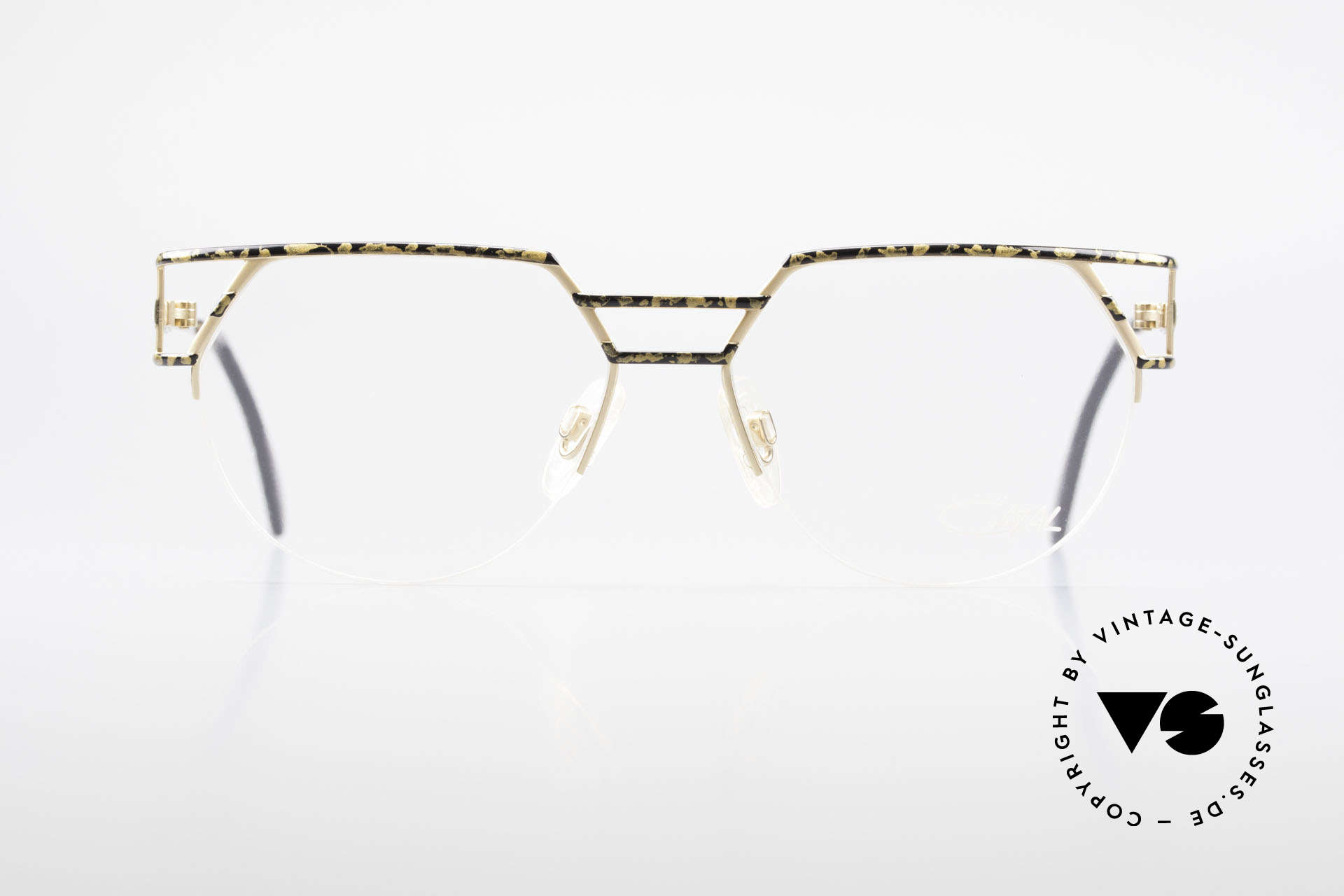 Cazal 248 Original 90's Frame No Retro, half rimless & high-end quality; made in Germany, Made for Men and Women