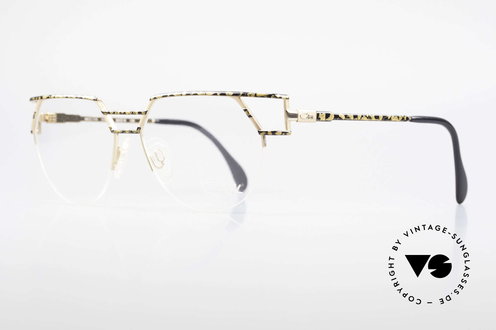 Cazal 248 Original 90's Frame No Retro, very elegant frame pattern (gold / black mottled), Made for Men and Women