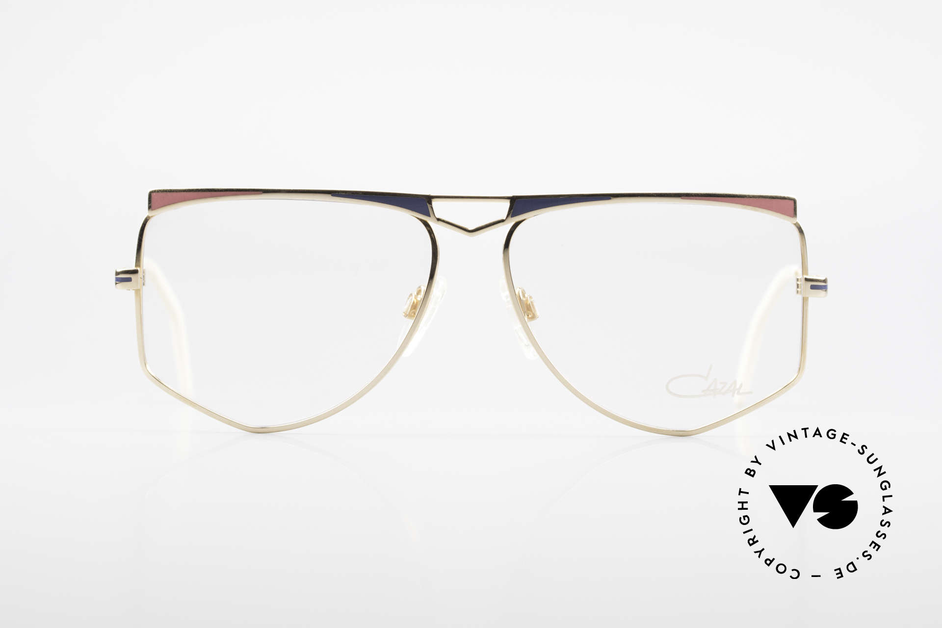 Cazal 227 True Old Vintage Eyeglasses, perfect matching frame coloring; typically 80's fashion, Made for Women