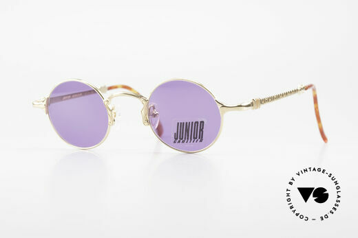 Jean Paul Gaultier 57-4175 Round Vintage Glasses 22KGP Details