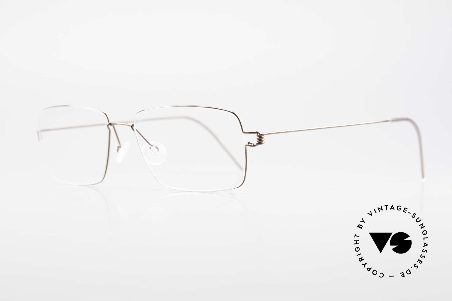 Lindberg Nikolaj Air Titan Rim High-End Titanium Frame Men, simply timeless, stylish & innovative: grade 'vintage', Made for Men