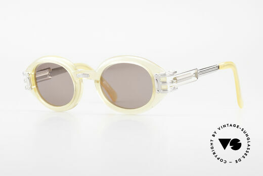Jean Paul Gaultier 56-5203 90's Steampunk Shades Oval Details