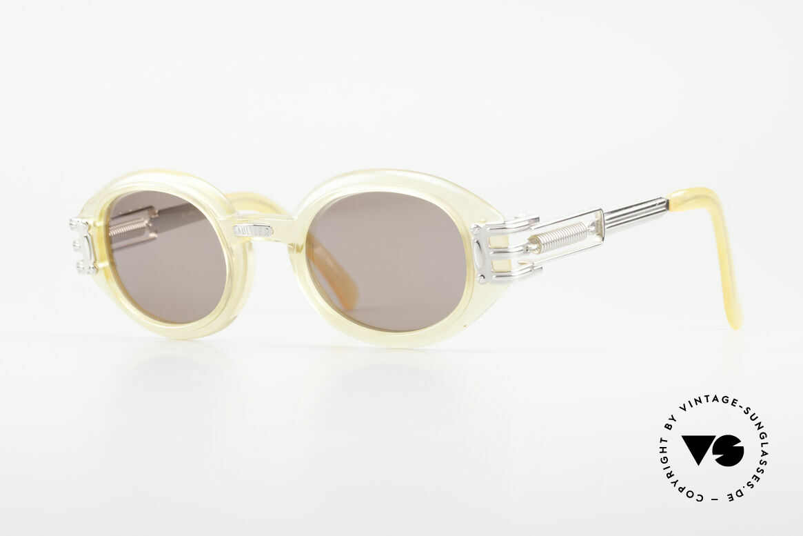 Jean Paul Gaultier 56-5203 90's Steampunk Shades Oval, rare vintage Jean Paul Gaultier sunglasses from 1995, Made for Men and Women