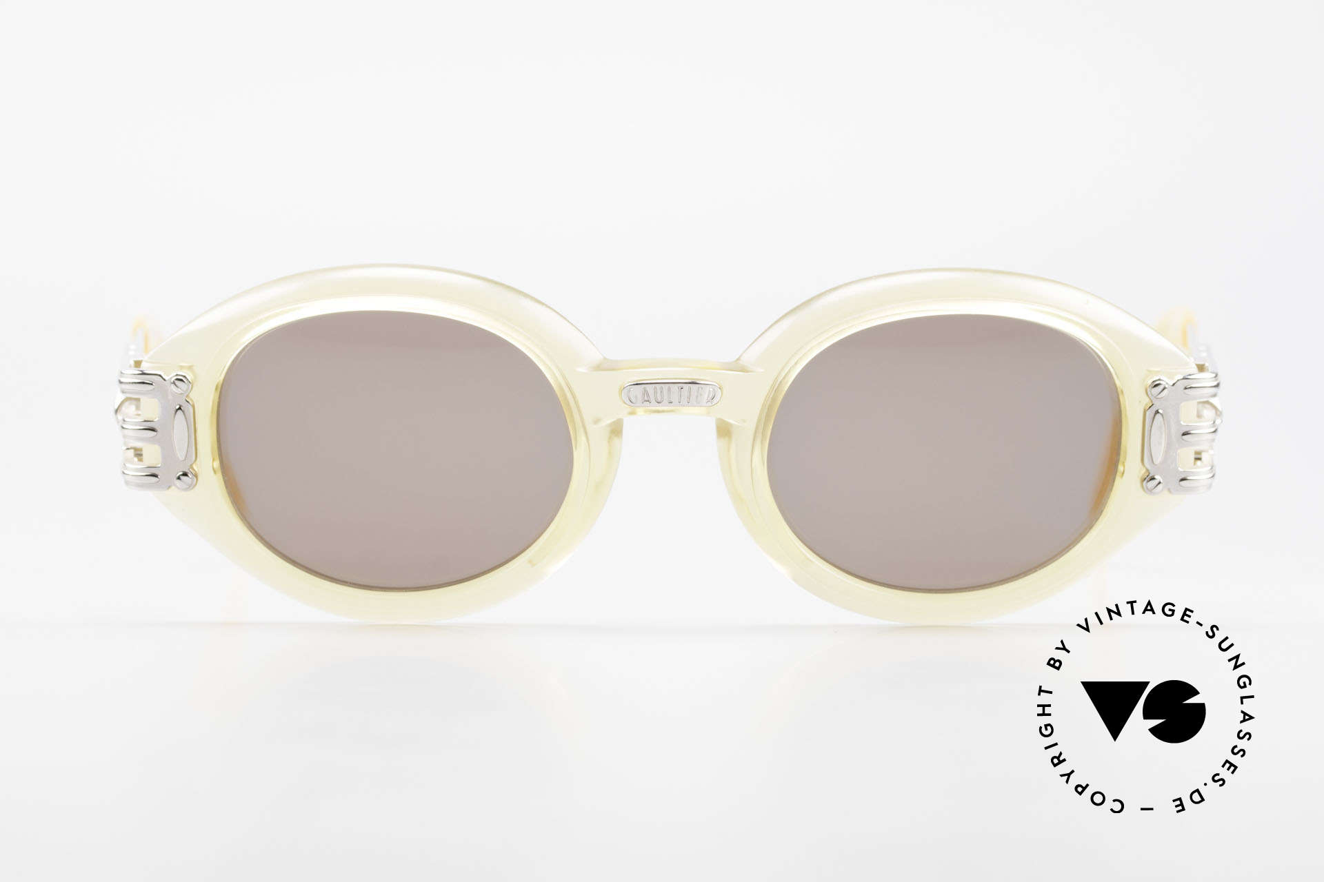 Jean Paul Gaultier 56-5203 90's Steampunk Shades Oval, enormous massive / heavy frame in high-end quality, Made for Men and Women