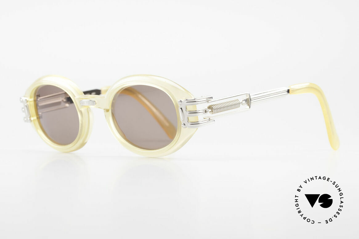 Jean Paul Gaultier 56-5203 90's Steampunk Shades Oval, industrial design often called as 'Steampunk' shades, Made for Men and Women