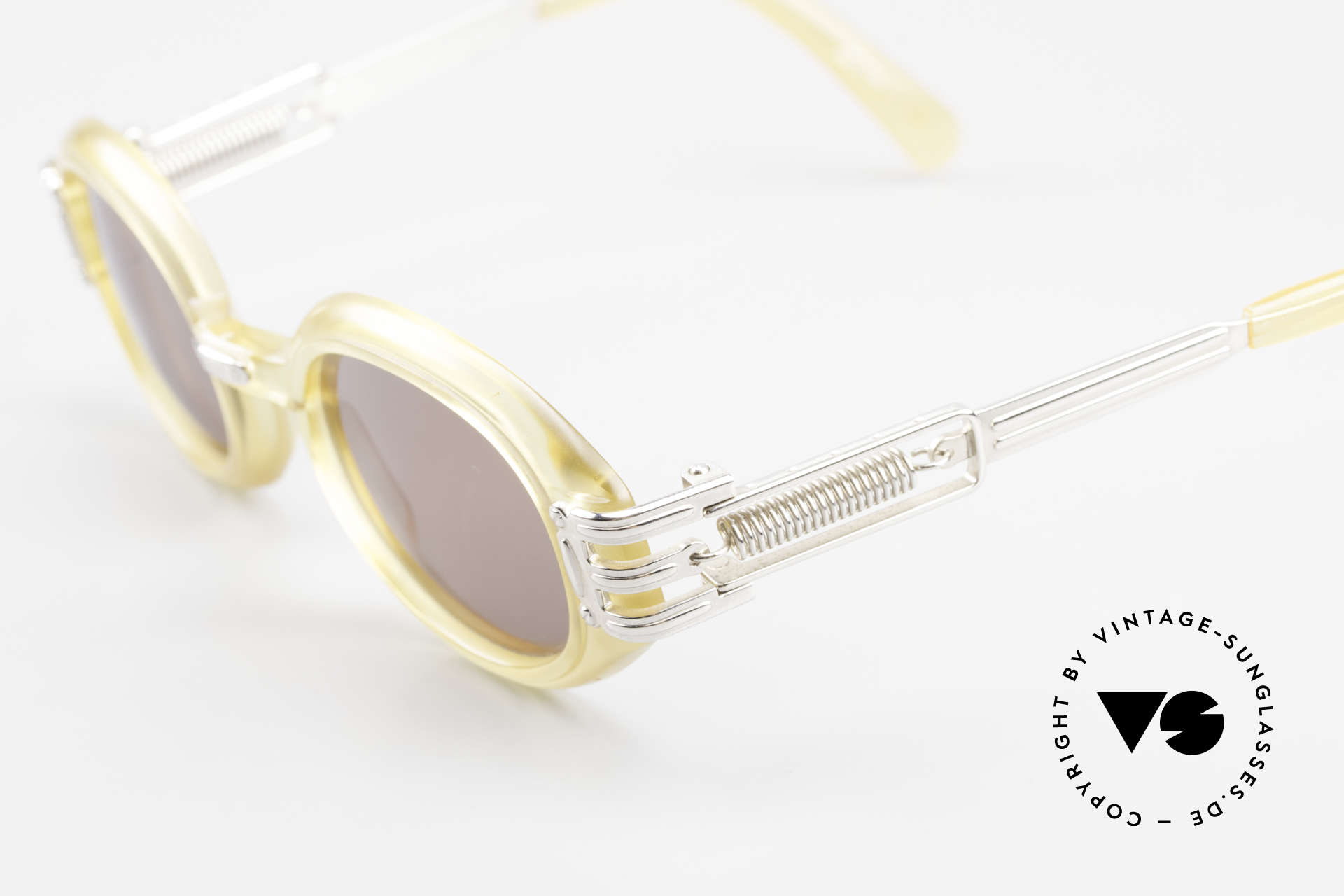 Jean Paul Gaultier 56-5203 90's Steampunk Shades Oval, new old stock (like all our vintage JP Gaultier shades), Made for Men and Women