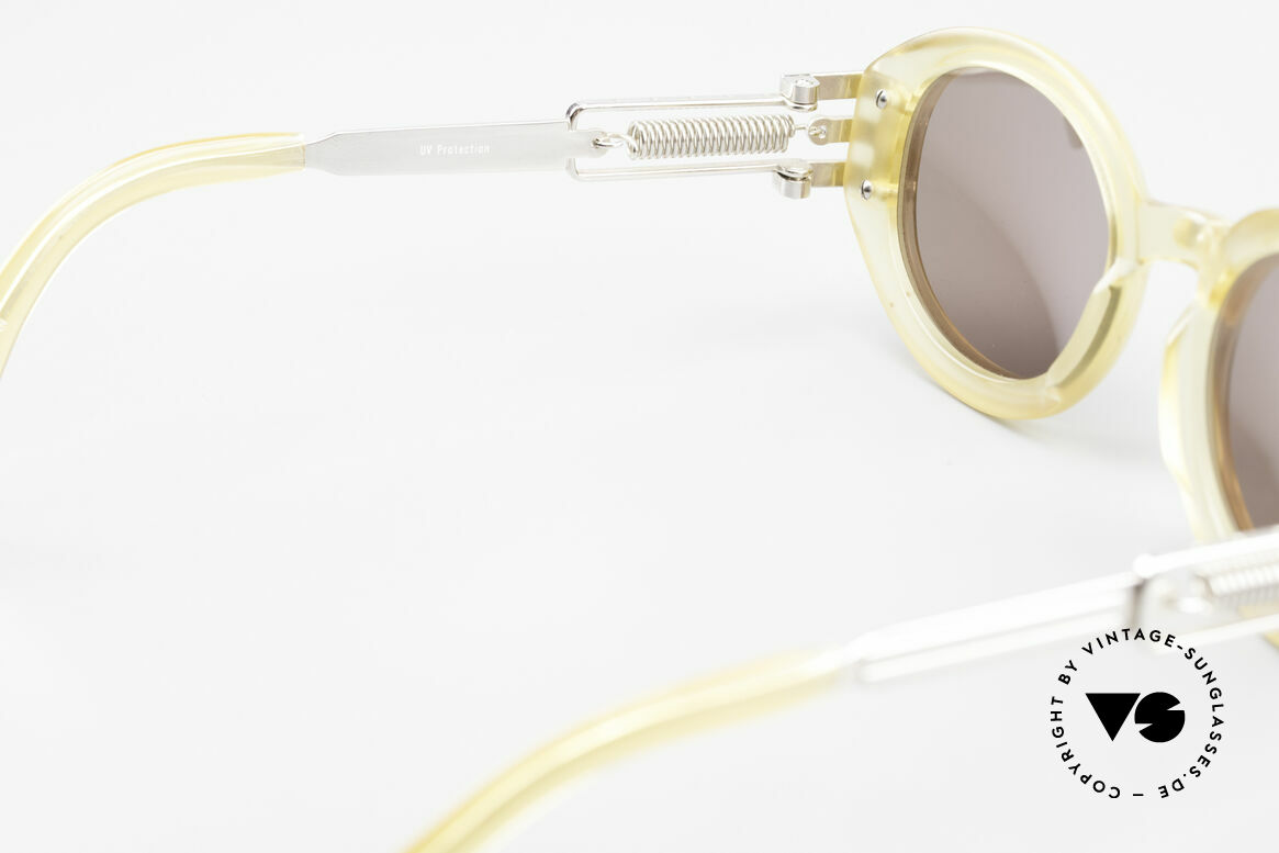 Jean Paul Gaultier 56-5203 90's Steampunk Shades Oval, Size: large, Made for Men and Women