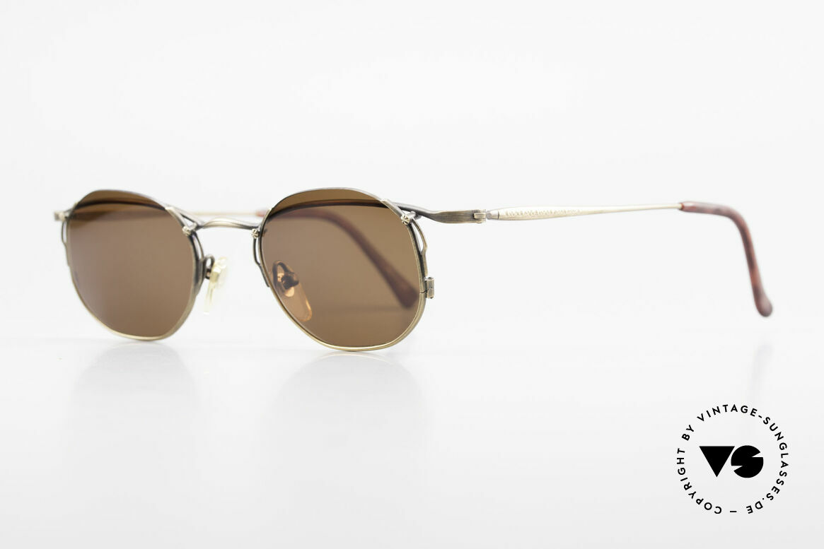 Matsuda 2856 Extraordinary Vintage Shades, the brown sun lenses are semi-rimless mounted, Made for Men and Women