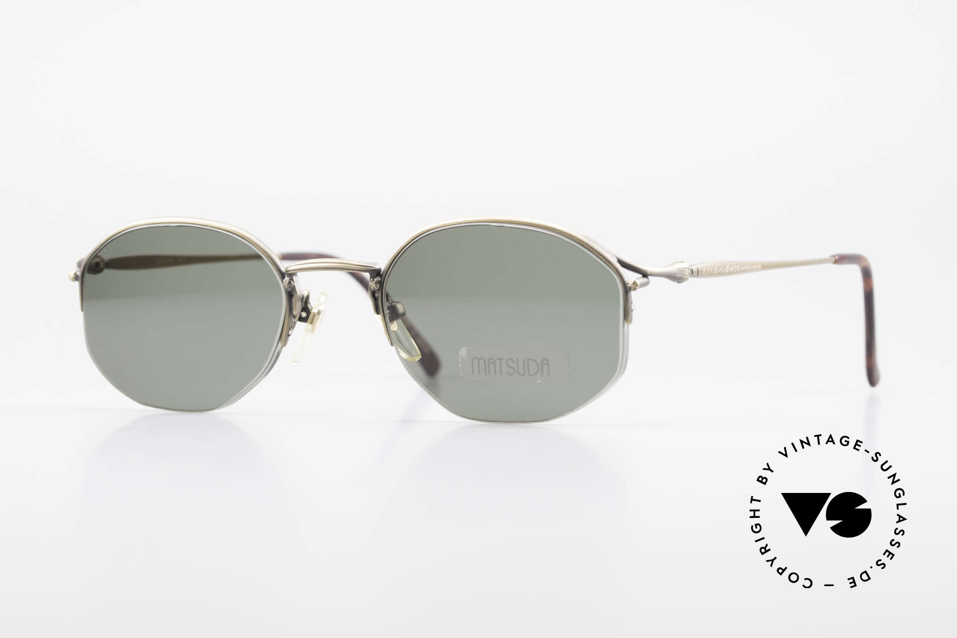 Matsuda 2855 Extraordinary Vintage Frame, vintage Matsuda designer sunglasses from the 90s, Made for Men and Women