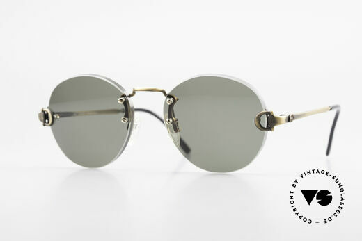 Gucci 2223 Rimless Round Sunglasses Details