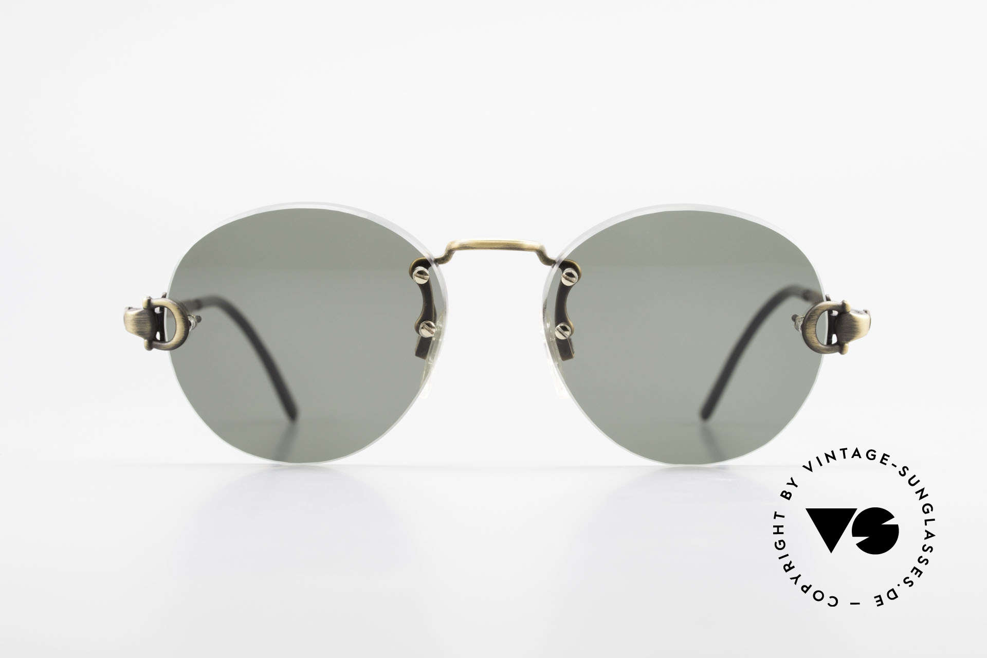 Gucci 2223 Rimless Round Sunglasses, round unisex model = suitable for ladies and gents, Made for Men and Women