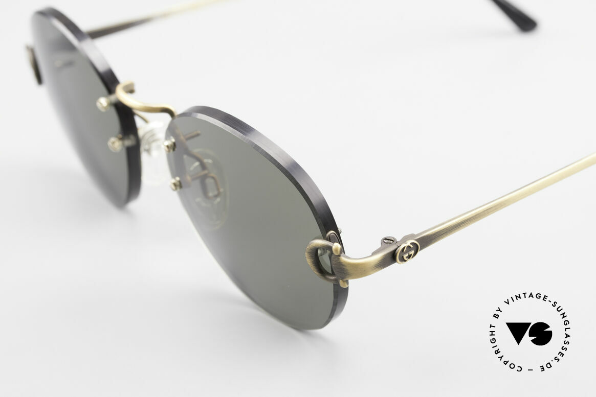 Gucci 2223 Rimless Round Sunglasses, NO RETRO fashion, but real 1980's retail commodity, Made for Men and Women