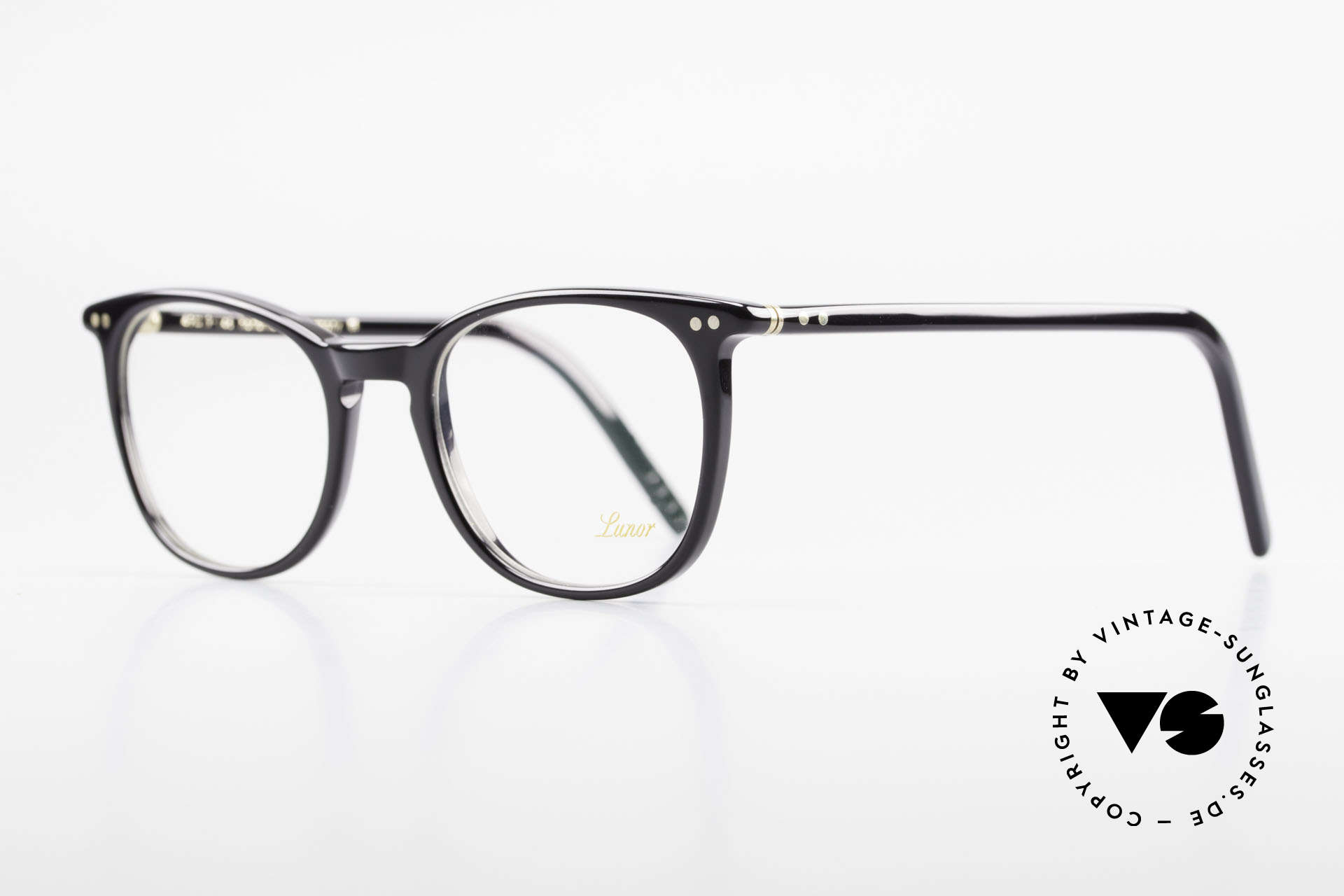 "Lunor A5 234 Classic Timeless Eyeglasses, well-known for the ""W-bridge"" & the plain frame designs, Made for Men and Women"