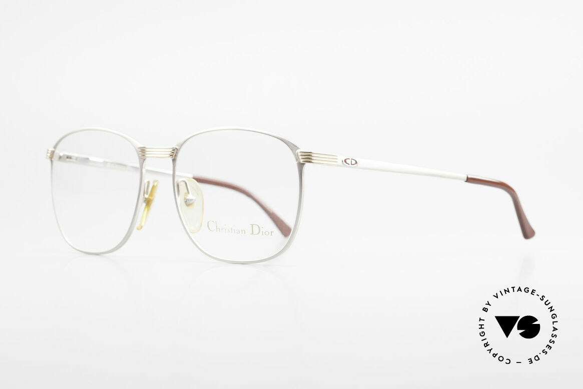 Christian Dior 2721 1980's Titanium Frame Men, bicolor (titanium/gold) frame & flexible spring hinges, Made for Men