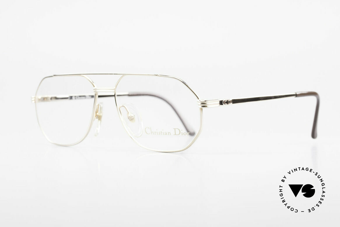 Christian Dior 2685 Classic 80's Frame For Men, GOLD-PLATED metal frame with flexible spring hinges, Made for Men